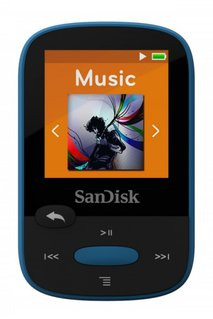 MP3-Player Sansa Clip Sport 8GB Blau Befestigungsclip, FM Radio