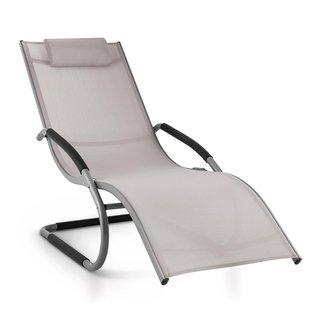 Sunwave Gartenliege Liegestuhl Schwingliege Relax Aluminium taupe
