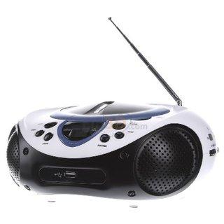 UKW CD-Radio SCD-38 USB AUX, CD, UKW, USB Blau